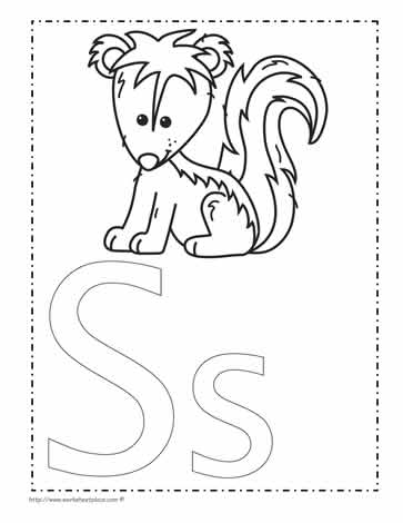 The Letter S Coloring Page Worksheets