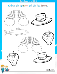 Colour Worksheets For Kindergarten On Worksheets Ideas 885