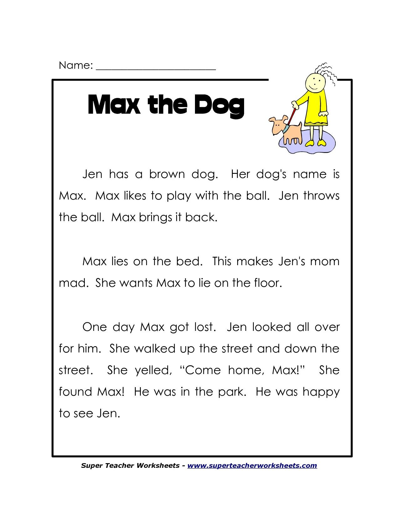 1st Grade Reading Worksheets Free Lots More On On