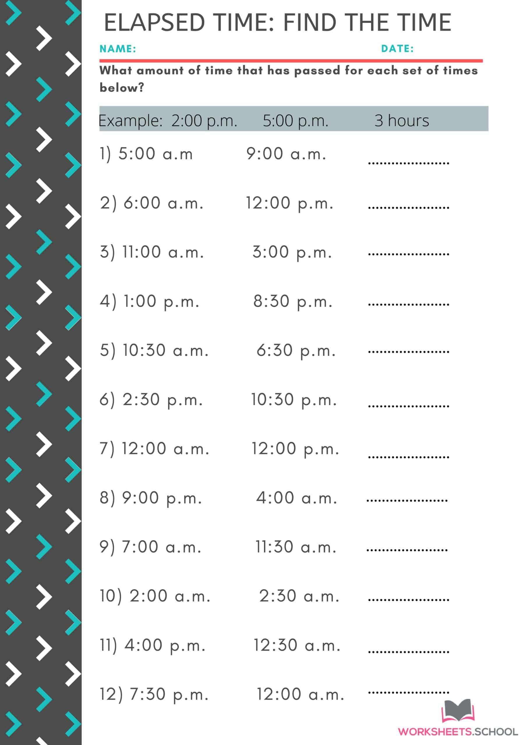 10 Elapsed Time Worksheets 3rd Grade 100 Free