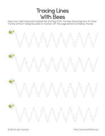 free printable tracing worksheets