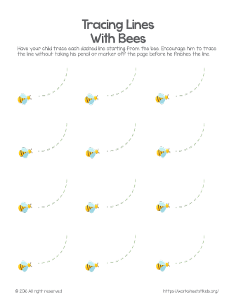 trace worksheets for preschoolers