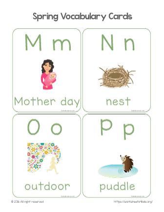 spring vocabulary words