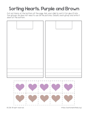 color sorting printables