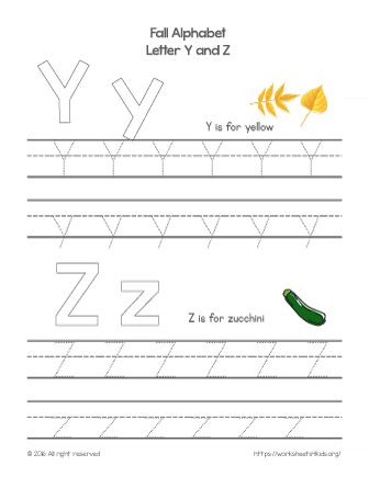 tracing letter y