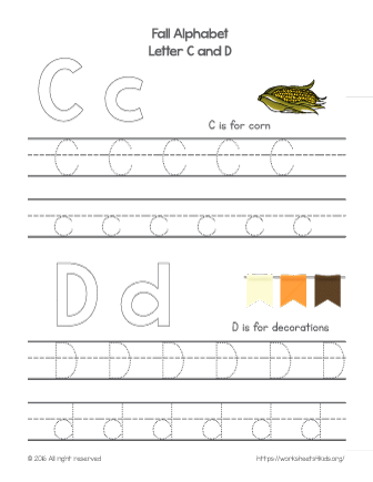 tracing letter c