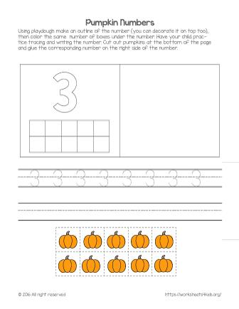 number 3 worksheet