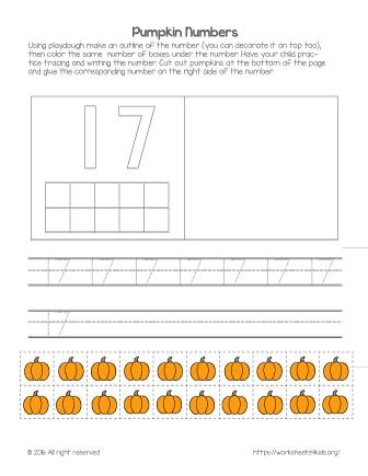 number 17 worksheet