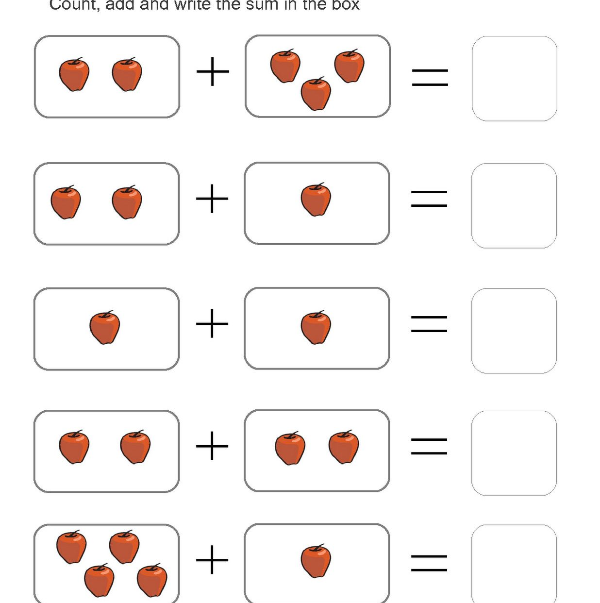 Addition With Missing Numbers Worksheets