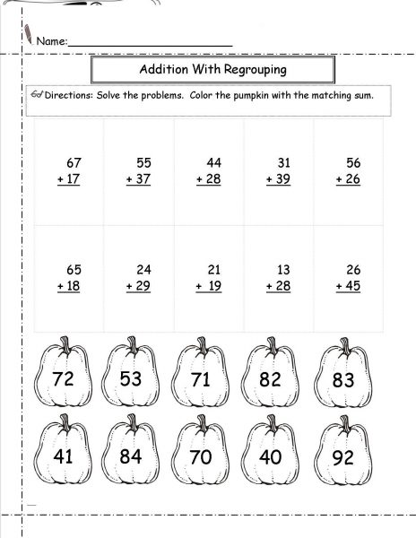 Addition Without Regrouping Worksheet