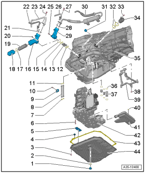 Audi Workshop Manuals > A5 > Power transmission > 7speed dual clutch gearbox 0B5 (S tronic
