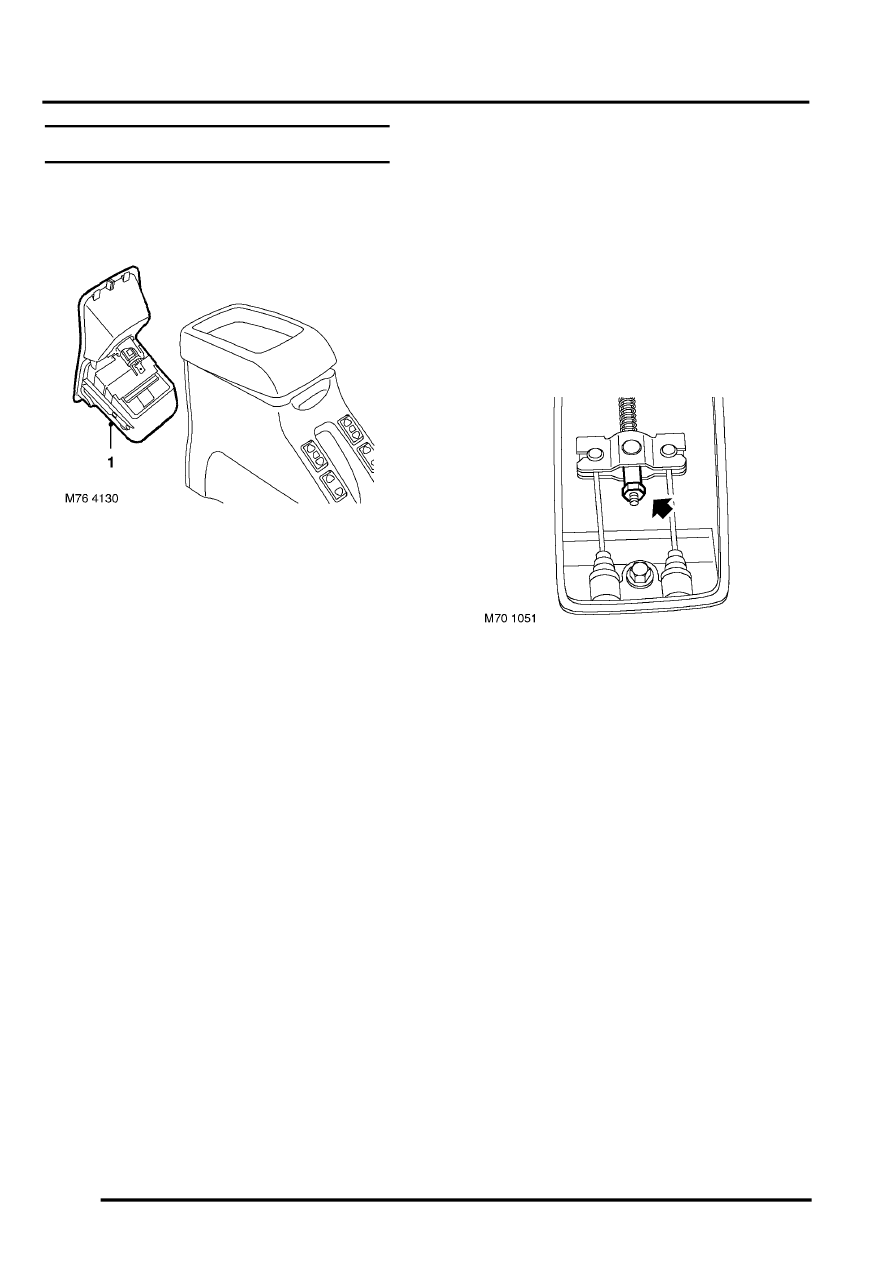 Brakes > adjustments > cable handbrake check and adjust