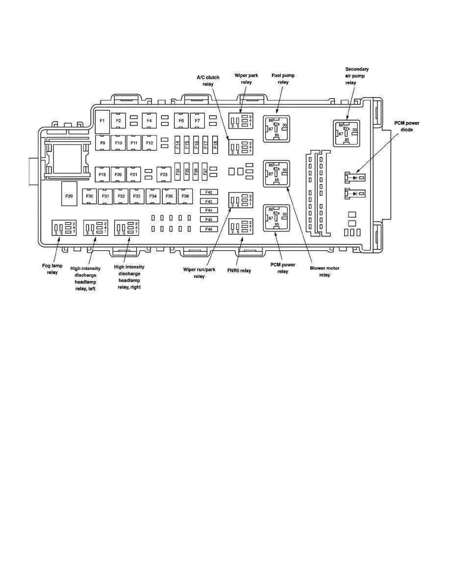 Ford Fusion V6 3 0 Fuse 48 Diagram 2006 Engine