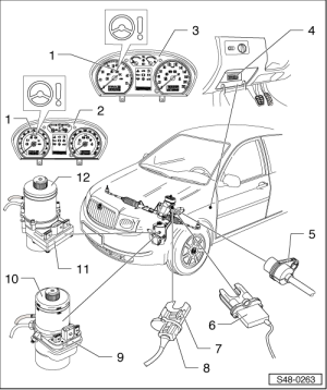 Skoda Workshop Manuals > Fabia Mk1 > Chassis > Steering > ElectricElectronic ponents and