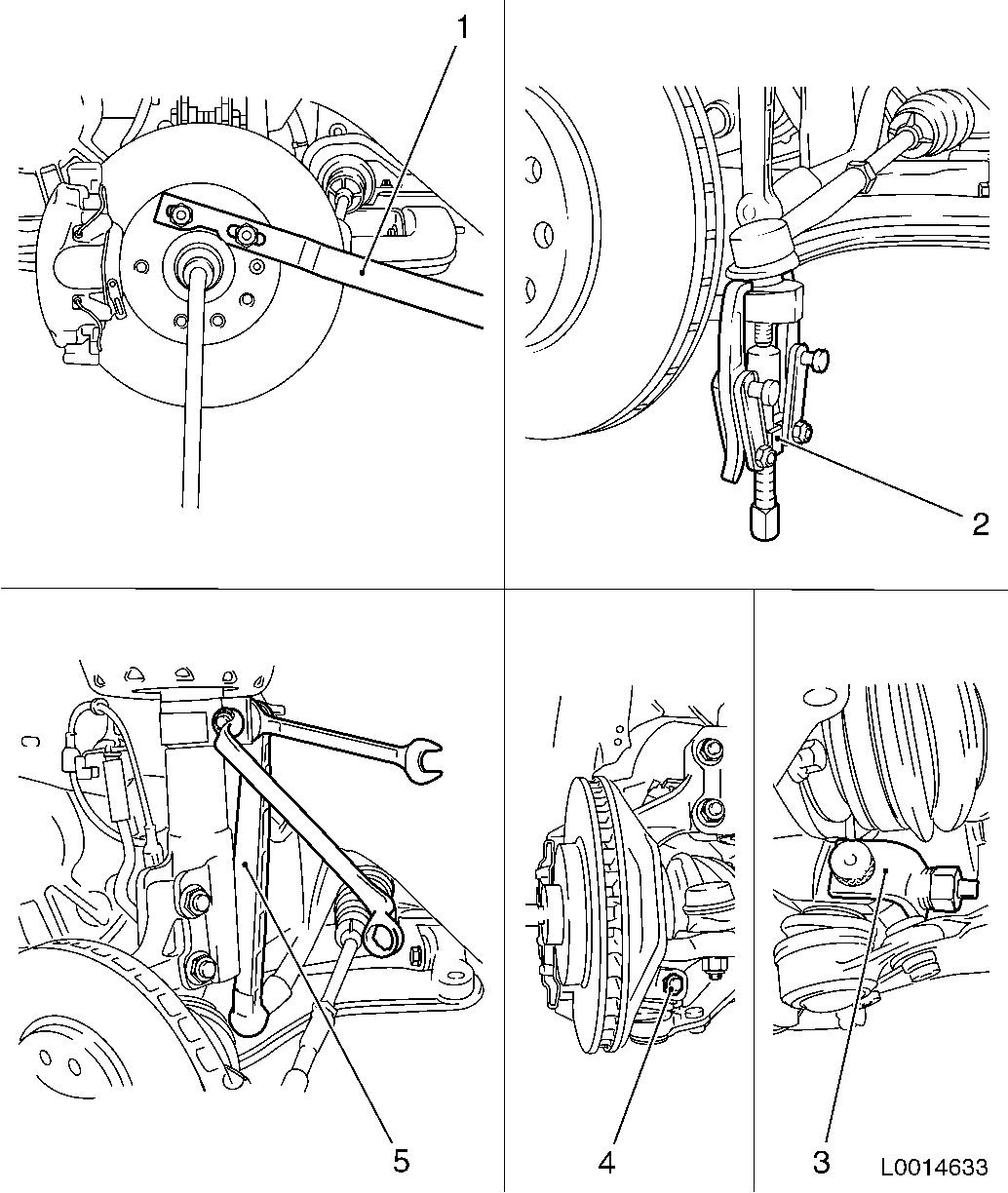 Vauxhall Workshop Manuals Gt Astra H Gt E Front Wheel