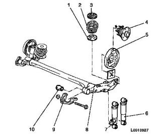 Vauxhall Workshop Manuals > Astra H > F Rear Axle and Rear