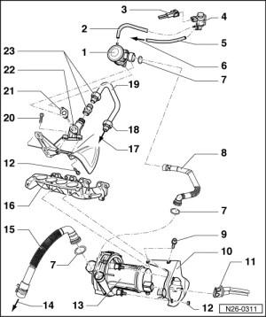 VWVortex  secondary air pump hose