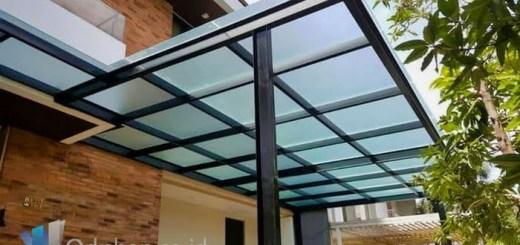 Membangun Canopy Kaca Carport
