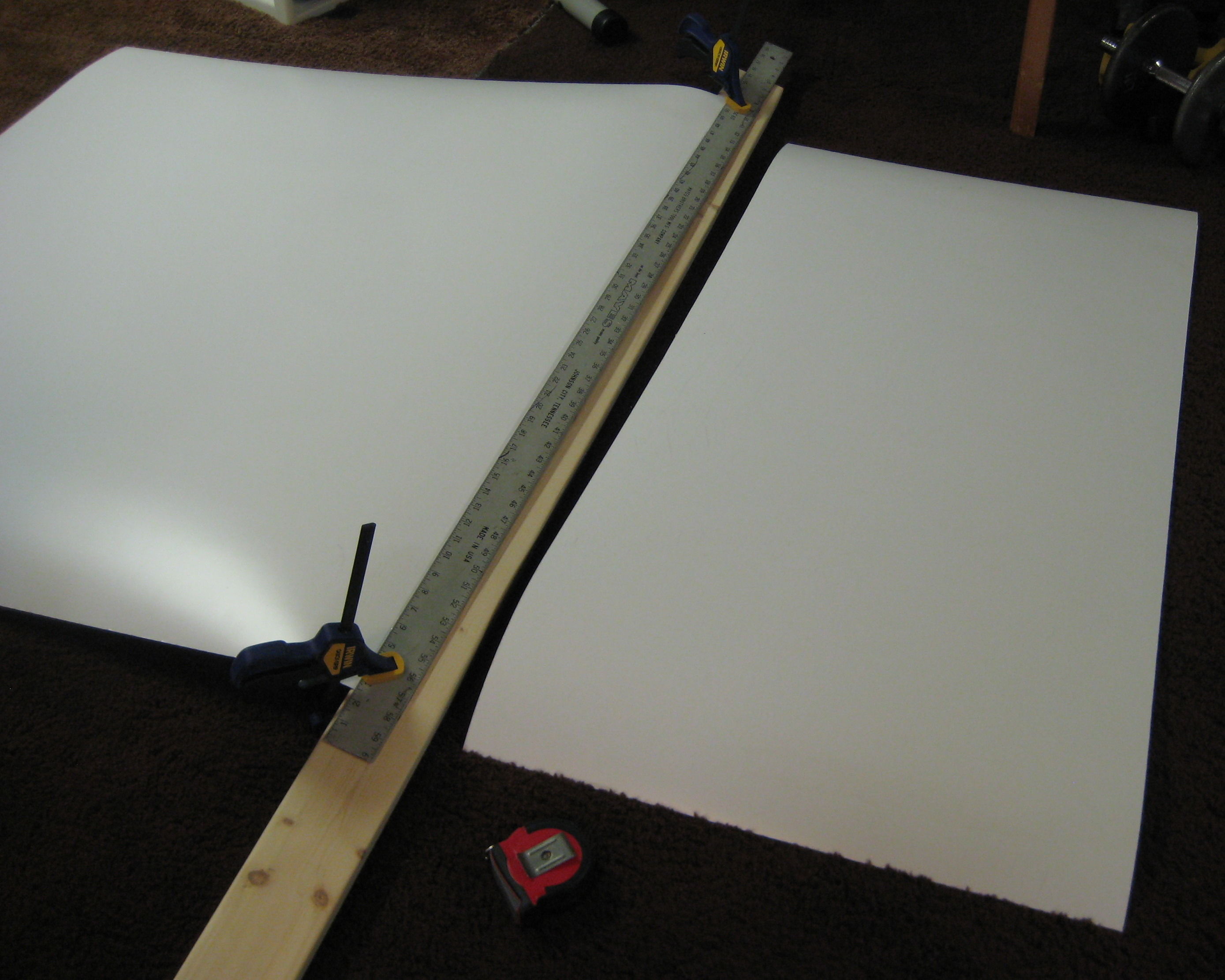 Breaking Down A Laminate Sheet With A Utility Knife 187 Ben