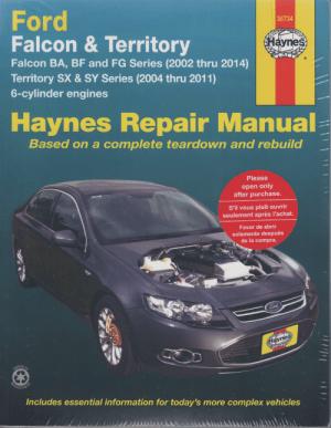 Ford Falcon BA BF FG Territory SX SY 20022014  sagin workshop car manuals,repair books