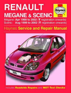 Renault Megane and Scenic  Haynes  sagin workshop car