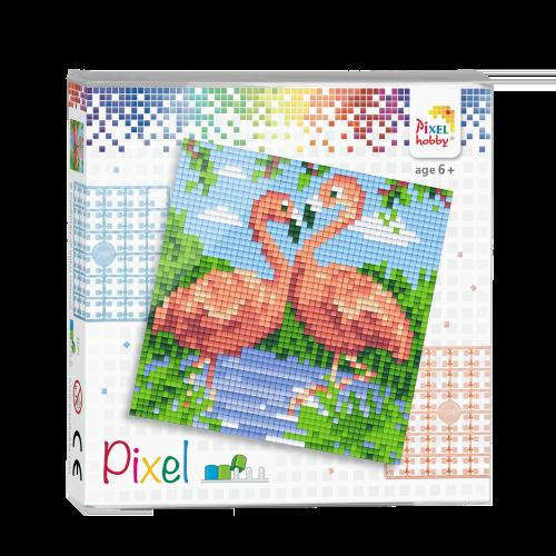 44002 pixel flamingo's