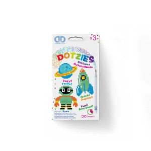 Diamond dotz dotzies stickers space raket planeet robot