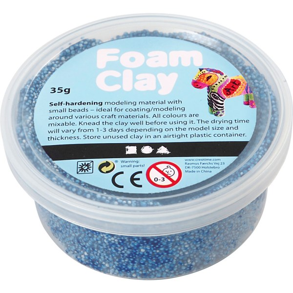 foam clay blauw