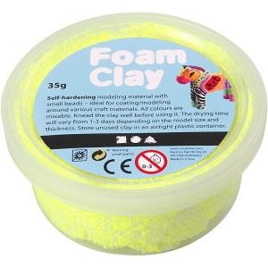 foam clay neon geel