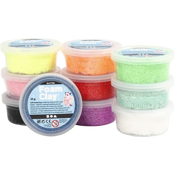 set Foam Clay glitter