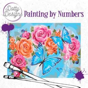 schilderen op nummer vlinders