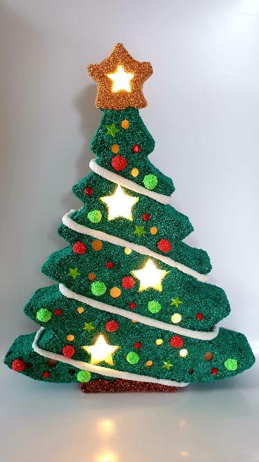 kerstboom met licht voorbeeld