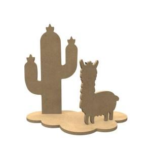 3d houten lama set