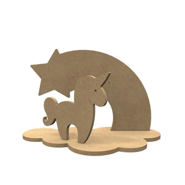 3d houten eenhoorn set