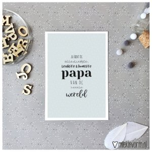 kaart leukste en knapste papa van de hele wereld
