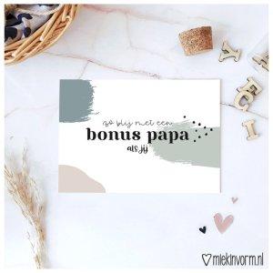 kaart zo blij met een bonus papa als jij