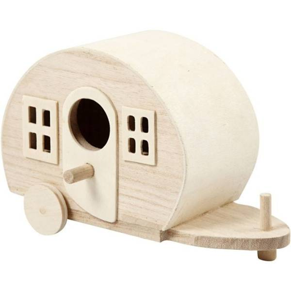 houten caravan
