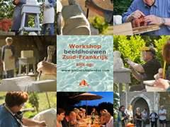 workshop Beeldhouwen uit steen in de Tarn