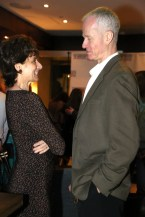 Board members, fellow actors, husband and wife Joanie Schumacher and Jed Dickson enjoy the success of the evening.