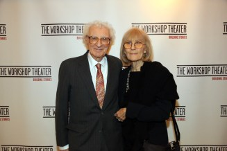 The Man of the Hour. Mr. Sheldon Harnick with his beautiful wife, Margery Gray.