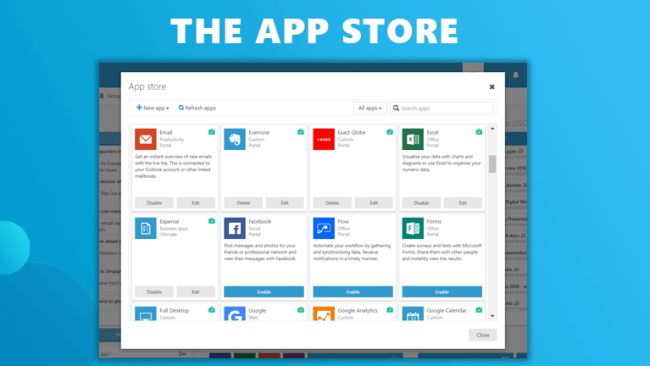 the app store workspace 365