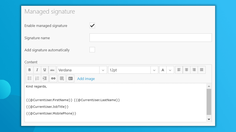 Managed Signature Workspace 365