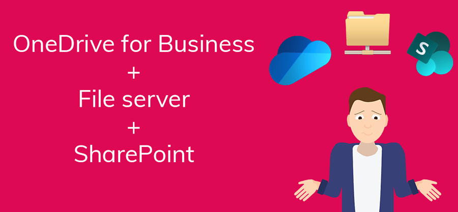 Waarom zou ik SharePoint, OneDrive en de fileserver (netwerkschijf) samenvoegen?