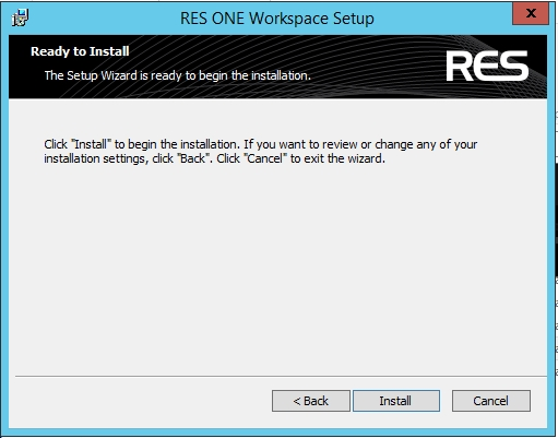 Step by Step Install RES ONE Enterprise Workspace - Workspace Knowledge