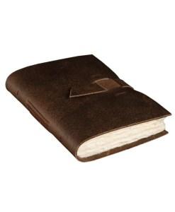 Notesbog i ægte bøffellæder
