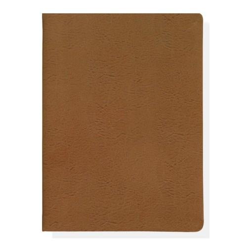 Flot notesbog i læder med guldkant