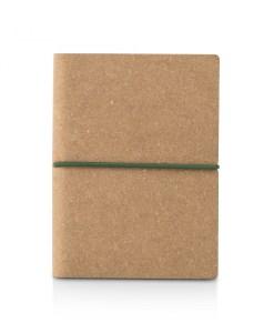 Notesbog af genbrugt læder