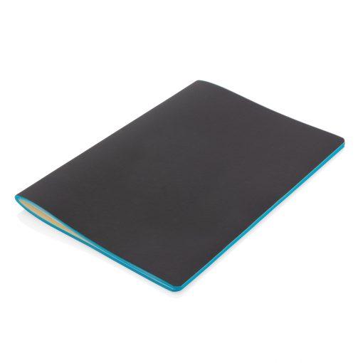 Lille A5-notesbog med farvede kanter