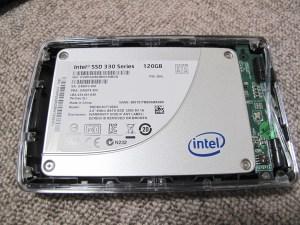 Intel SSD組み込み状態
