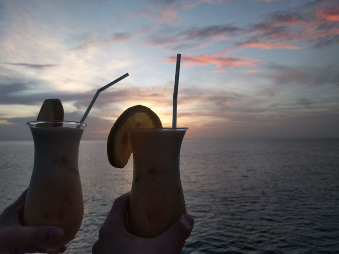 Cocktails an Bord